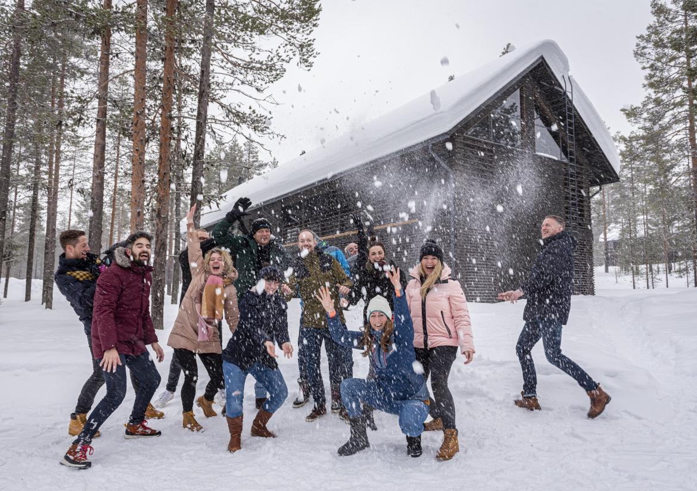 Fins Lapland deelnemers einde